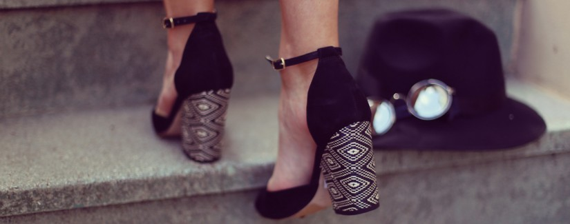 Zapatos de tacón en bloque